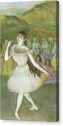 Pink Dancer  Canvas Print by Edgar Degas