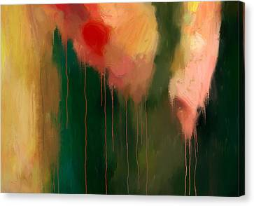 Pink Drips Canvas Print by Michael Pickett
