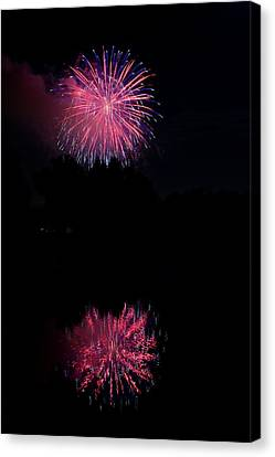 Pink Fireworks Canvas Print by James BO  Insogna