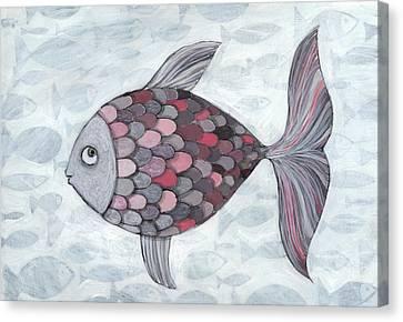 Pink Fish Canvas Print by Georgiana Chitac