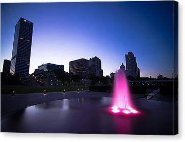 Pink Fountain Canvas Print by Jonah  Anderson
