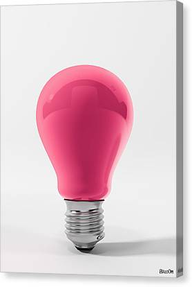 Pink Lamp Canvas Print by BaloOm Studios