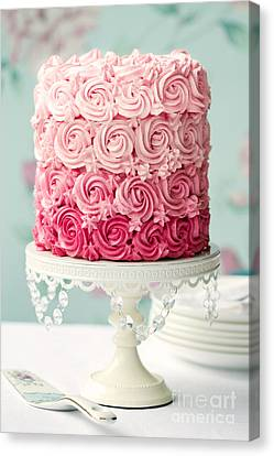 Pink Ombre Cake Canvas Print by Ruth Black