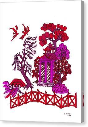 Pink Pagoda Canvas Print by Gail Daley
