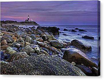 Pink Skies At Montauk Point Canvas Print by Rick Berk