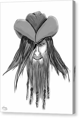 Pirate Patch Canvas Print by Donny Stansel