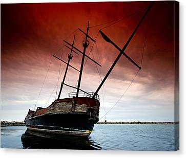 Pirate Ship 2 Canvas Print by Cale Best