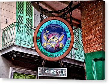 Pirates Alley Cafe Canvas Print by Bill Cannon
