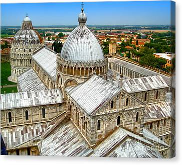 Pisa Cathedral From The Leaning Tower Canvas Print by Gregory Dyer