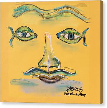 Pisces Canvas Print by Sladjana Lazarevic