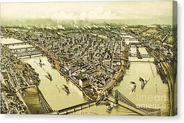 Pittsburg Pennsylvania Canvas Print by Pg Reproductions