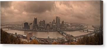 Pittsburgh Skyline 1 Canvas Print by Wade Aiken