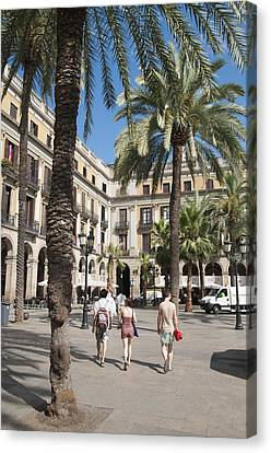 Placa Reial Barcelona Spain Canvas Print by Matthias Hauser