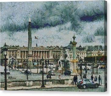 Place De La Concorde Canvas Print by Aaron Stokes