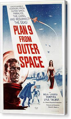Plan 9 From Outer Space, 1959 Canvas Print by Everett