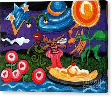 Planet Fantastic Canvas Print by Genevieve Esson