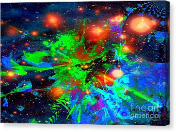 Planet With No Dark Side Of Democracy Canvas Print by Fania Simon