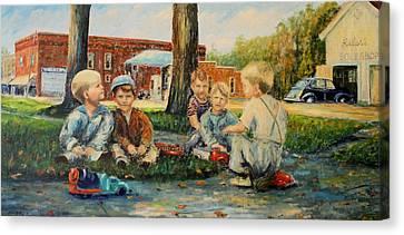 Playing Trucks Canvas Print by Daniel W Green