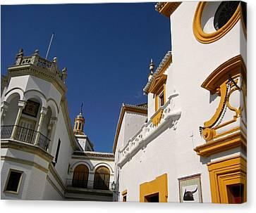 Plaza De Toros De La Real Maestranza - Seville Canvas Print by Juergen Weiss