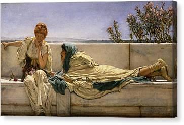 Pleading Canvas Print by Sir Lawrence Alma-Tadema