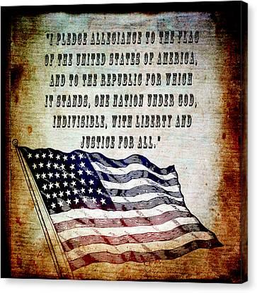 Pledge Canvas Print by Angelina Vick