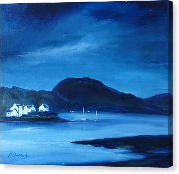 Plockton Canvas Print by Margaret Denholm