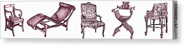 Plum Chair Poster Horizontal  Canvas Print by Adendorff Design