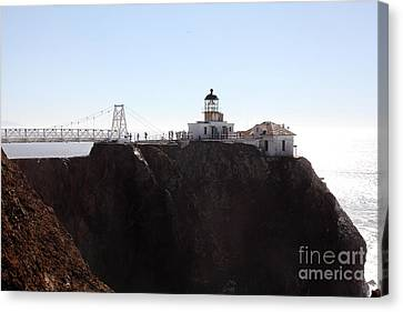 Point Bonita Lighthouse In The Marin Headlands - 5d19652 Canvas Print by Wingsdomain Art and Photography
