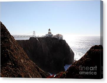 Point Bonita Lighthouse In The Marin Headlands - 5d19653 Canvas Print by Wingsdomain Art and Photography