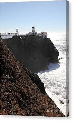 Point Bonita Lighthouse In The Marin Headlands - 5d19654 Canvas Print by Wingsdomain Art and Photography