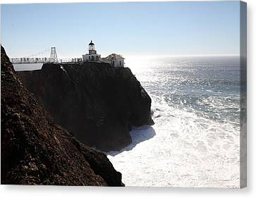 Point Bonita Lighthouse In The Marin Headlands - 5d19655 Canvas Print by Wingsdomain Art and Photography
