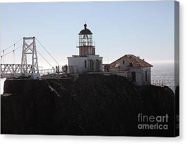Point Bonita Lighthouse In The Marin Headlands - 5d19665 Canvas Print by Wingsdomain Art and Photography