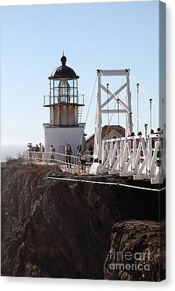 Point Bonita Lighthouse In The Marin Headlands - 5d19667 Canvas Print by Wingsdomain Art and Photography