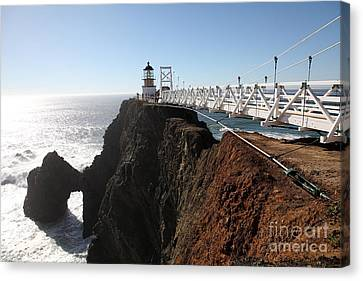Point Bonita Lighthouse In The Marin Headlands - 5d19668 Canvas Print by Wingsdomain Art and Photography