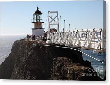 Point Bonita Lighthouse In The Marin Headlands - 5d19671 Canvas Print by Wingsdomain Art and Photography