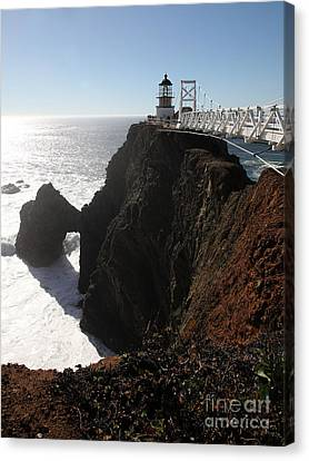 Point Bonita Lighthouse In The Marin Headlands - 5d19675 Canvas Print by Wingsdomain Art and Photography