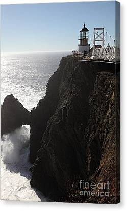 Point Bonita Lighthouse In The Marin Headlands - 5d19676 Canvas Print by Wingsdomain Art and Photography