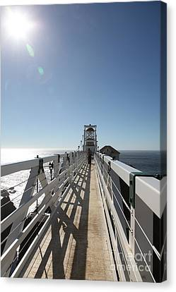 Point Bonita Lighthouse In The Marin Headlands - 5d19677 Canvas Print by Wingsdomain Art and Photography