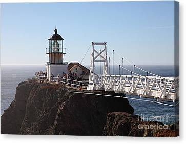 Point Bonita Lighthouse In The Marin Headlands - 5d19697 Canvas Print by Wingsdomain Art and Photography