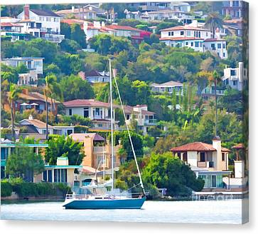 Point Loma Harbor Side Canvas Print by L J Oakes
