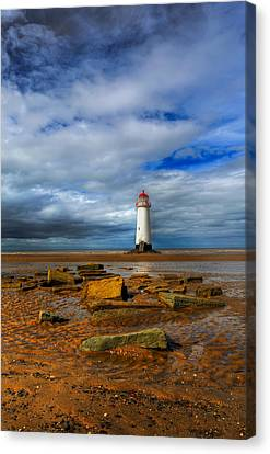 Point Of Ayr Beach Canvas Print by Adrian Evans