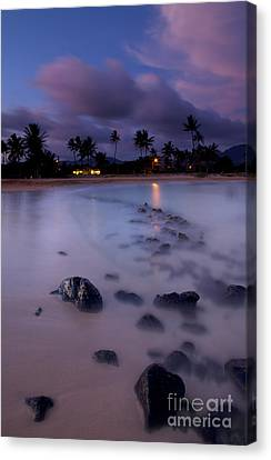 Poipu Evening Storm Canvas Print by Mike  Dawson