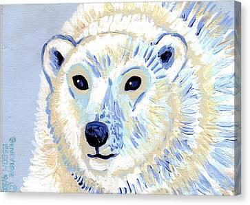Polar Bear Canvas Print by Genevieve Esson