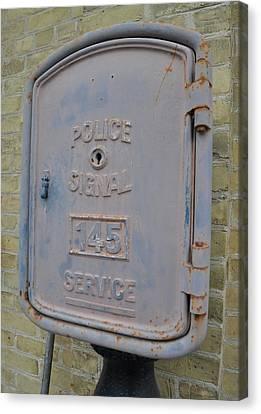 Police Signal Box Canvas Print by Daryl Macintyre