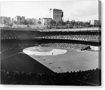 Polo Grounds, During The 1937 World Canvas Print by Everett