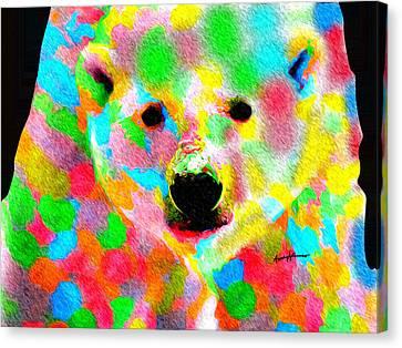 Polychromatic Polar Bear Canvas Print by Anthony Caruso