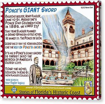 Ponce's Giant Sword Canvas Print by Warren Clark