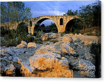 Pont Julien. Luberon. Provence. France. Europe Canvas Print by Bernard Jaubert
