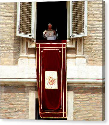 Pope Benedict Xvi B Canvas Print by Andrew Fare