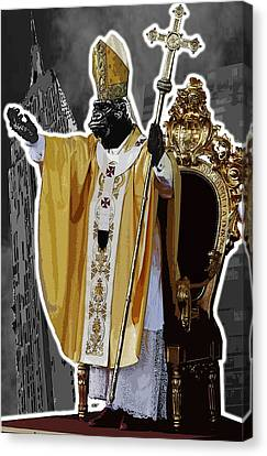 Pope King Kong Canvas Print by Travis Burns